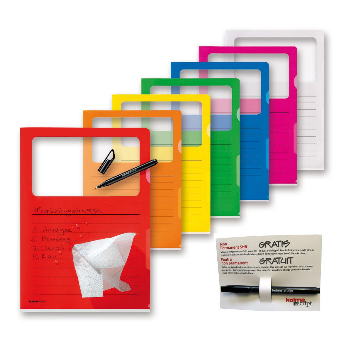 Visa Dossier Script Set A4 farbenrein