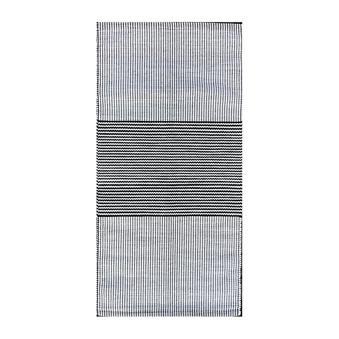 Teppich Aava hellbeige-schwarz