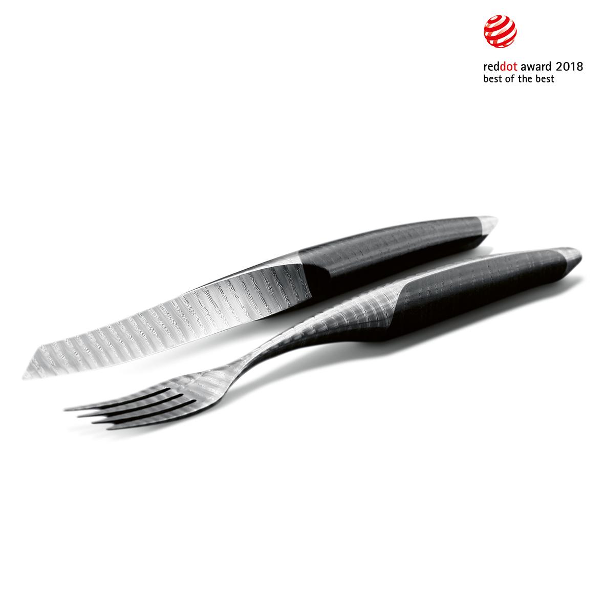 Sknife Steakbesteck-Set Esche schwarz