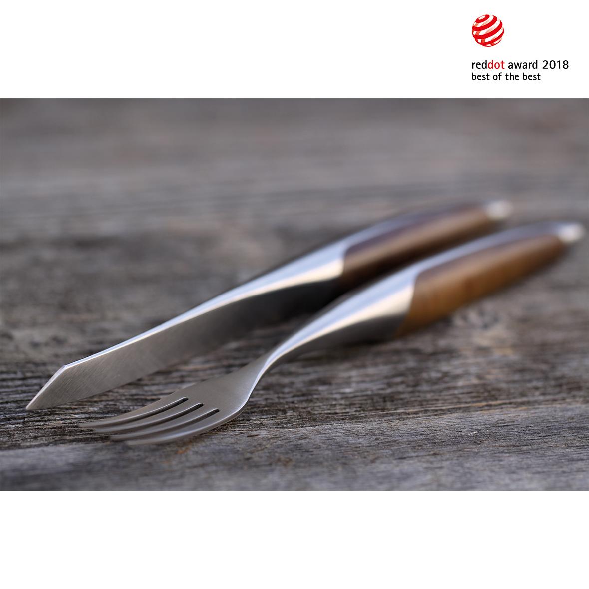 Sknife Steakbesteck-Set Walnuss