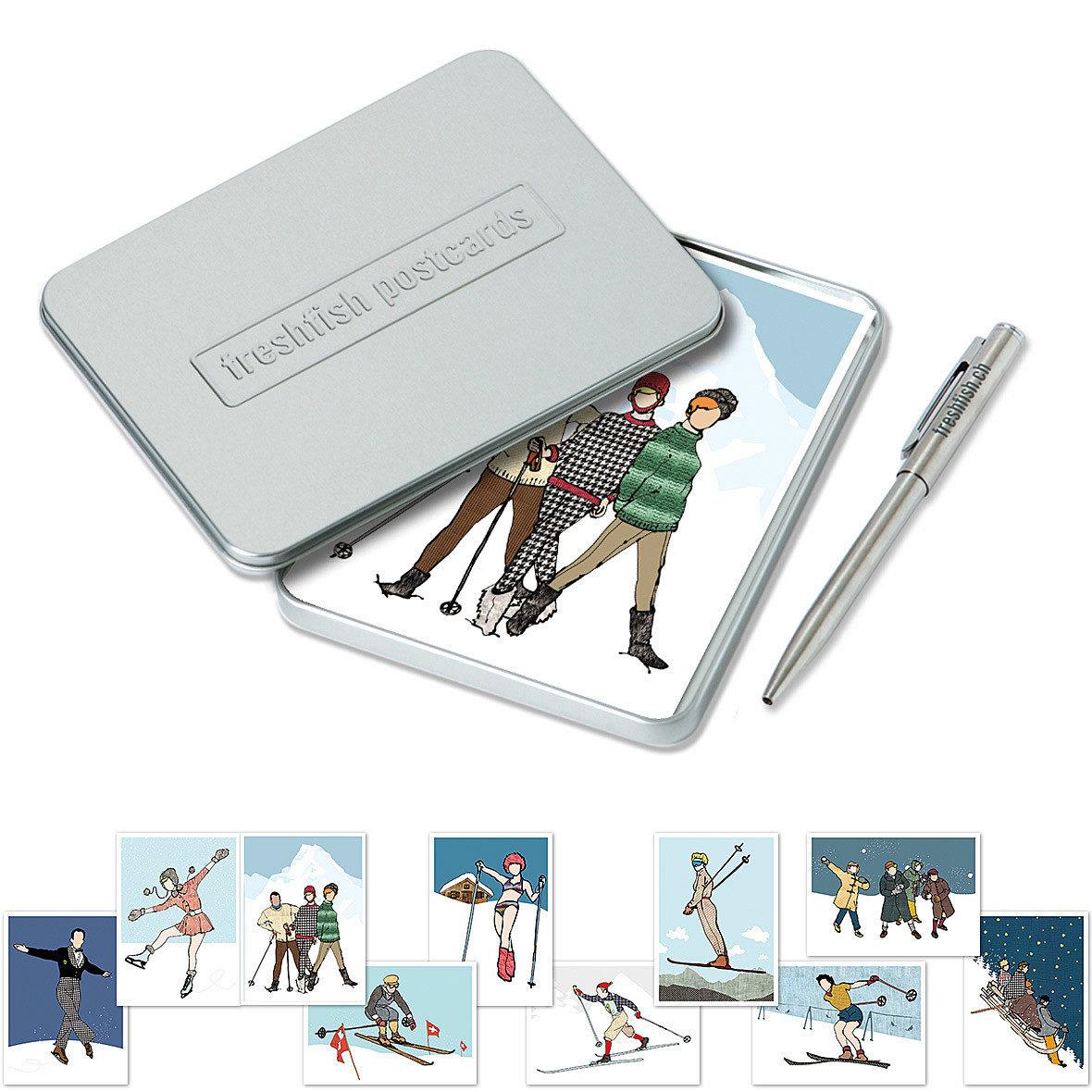 Postcard-Box Winterkinder