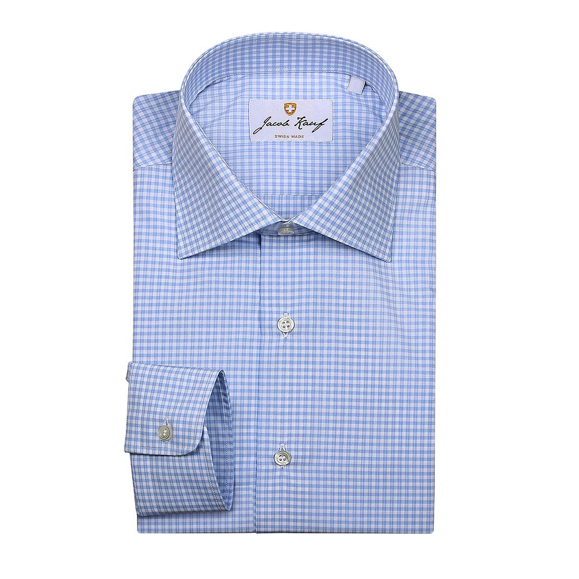Blau-weiss kariertes Schweizer Hemd