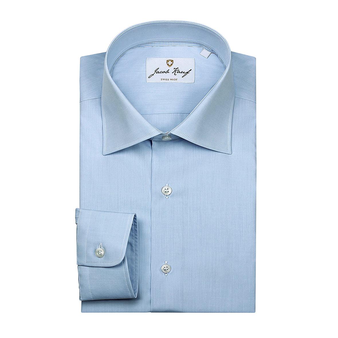 Blaues Schweizer Hemd