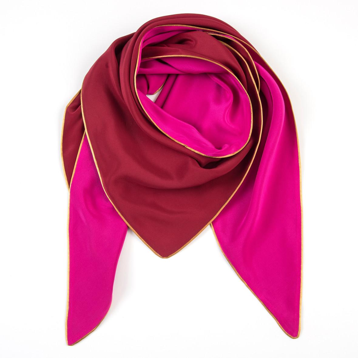 Dreieckschal Moitié-Carré Pink/Bordeaux