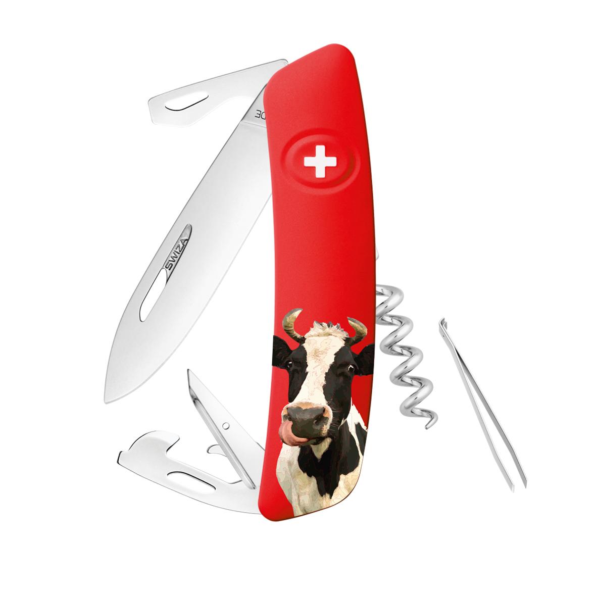 Schweizer Taschenmesser Swiza D03 Kuh rot
