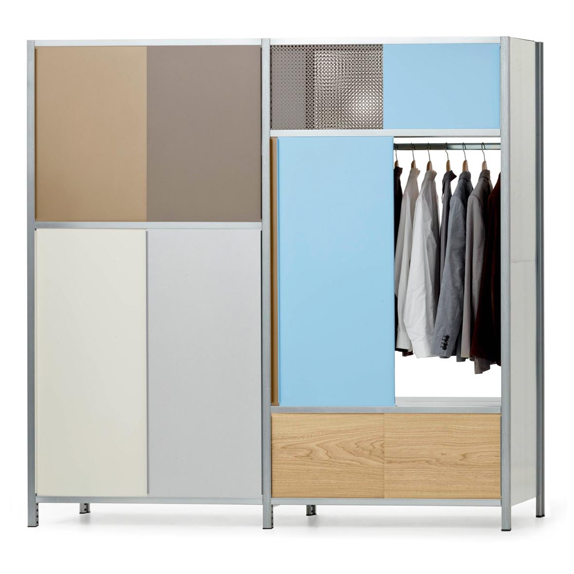 MF-System Doppelregal mit Garderobe
