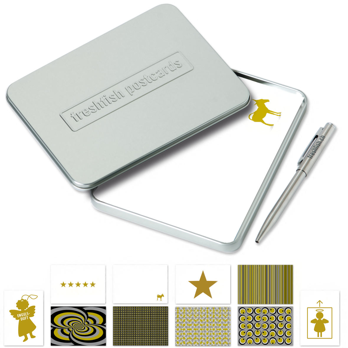 Postcard-Box Gold