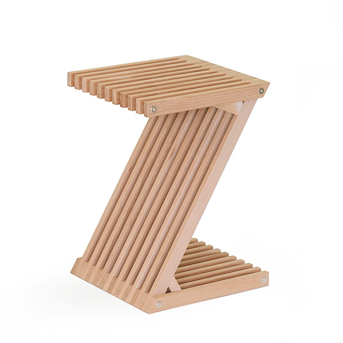 Holzmöbel Z-Hocker